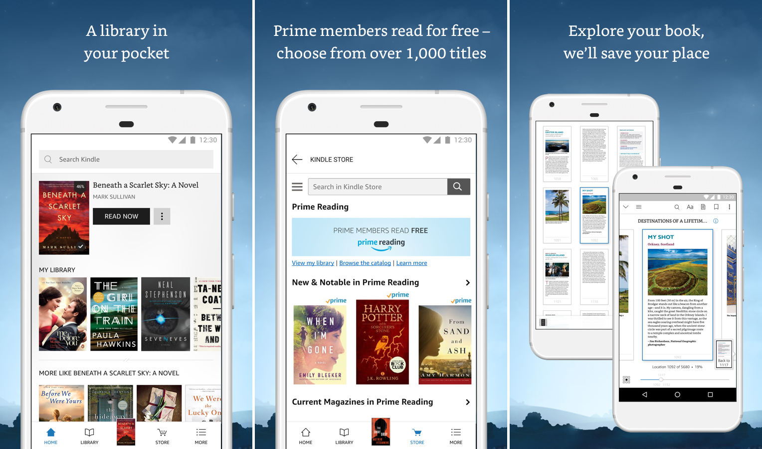 best travel apps - kindle