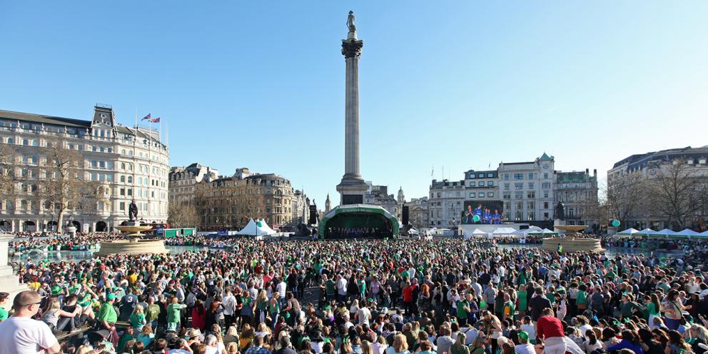 st patrick's day london trafalgar