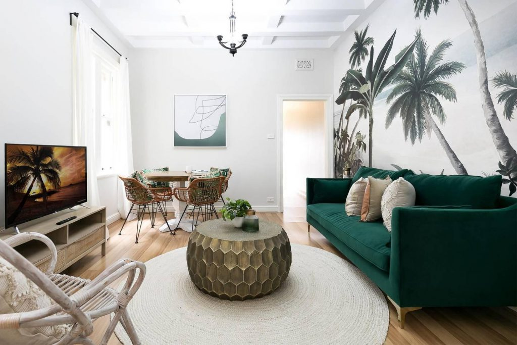airbnb tips for hosts - living room